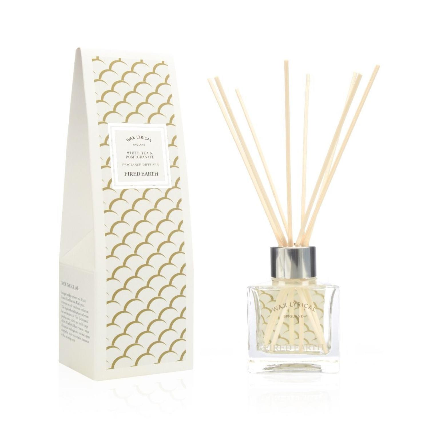 Wax Lyrical Fired Earth White Tea & Pomegranate Reed Diffuser