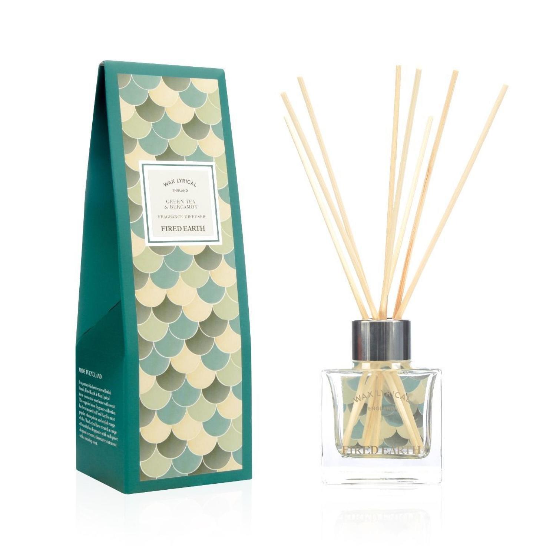 Wax Lyrical Fired Earth Green Tea & Bergamot Reed Diffuser