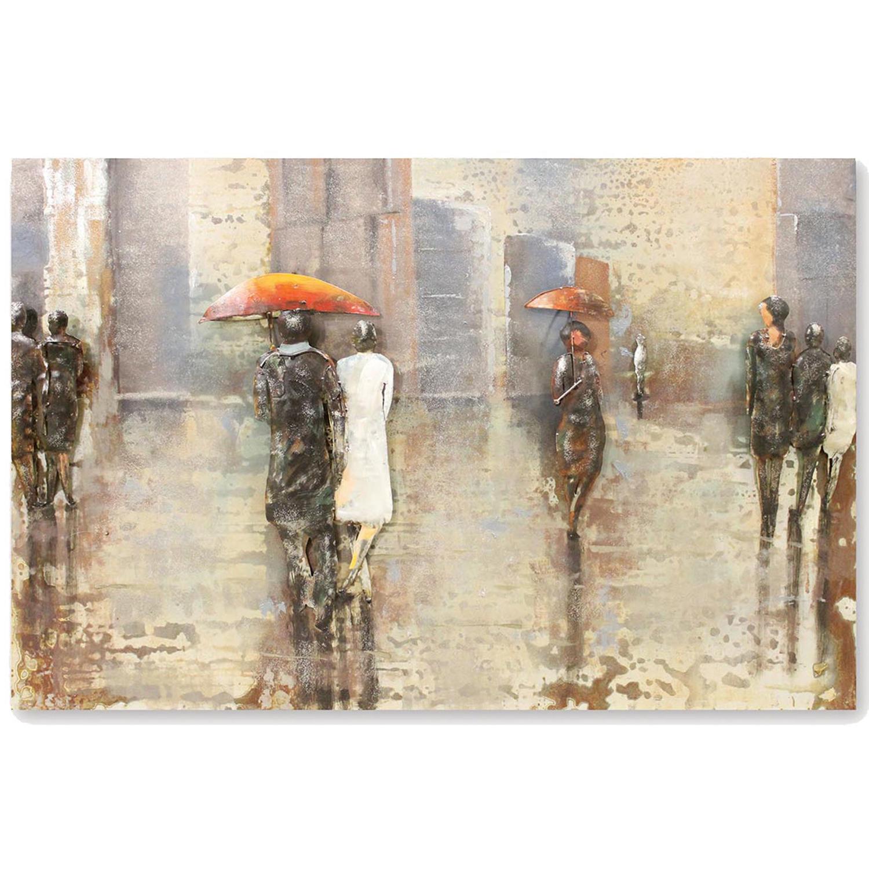 Rainy Day 3D Metal wall art