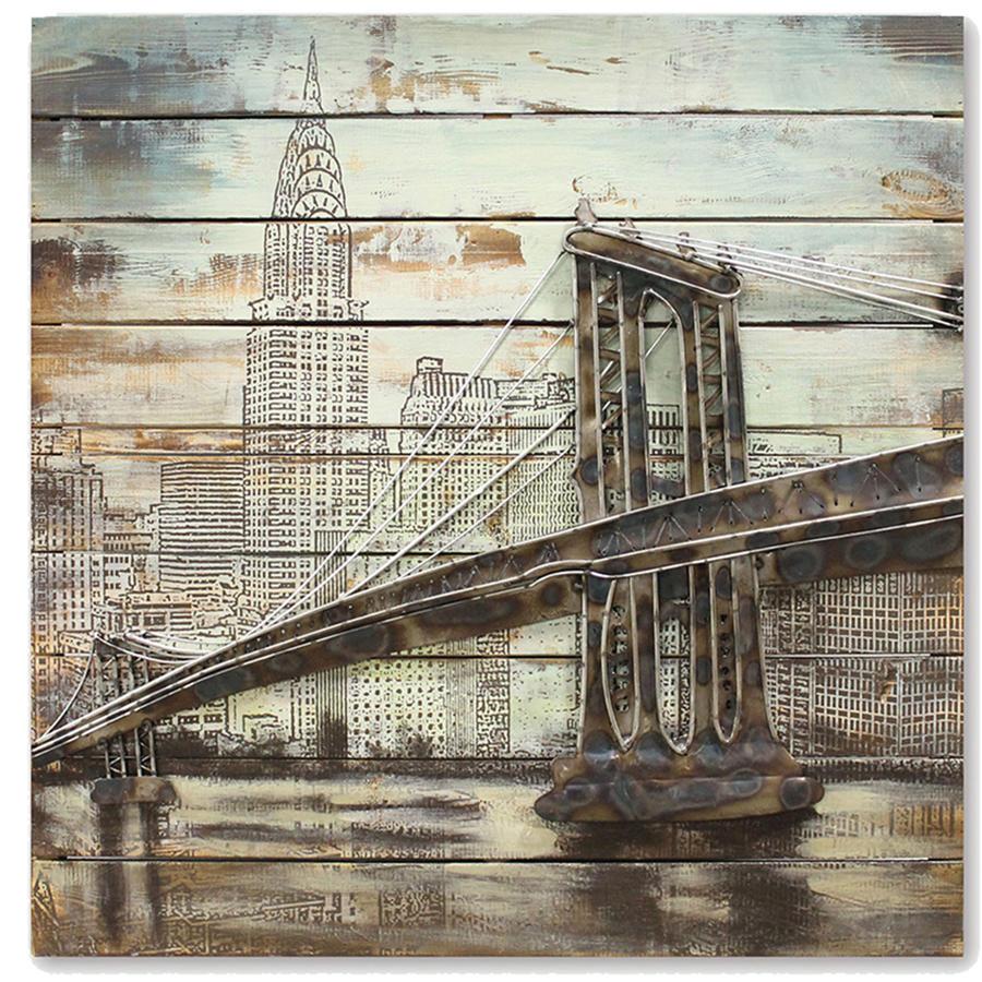 Brooklyn Bridge 3D metal wall art