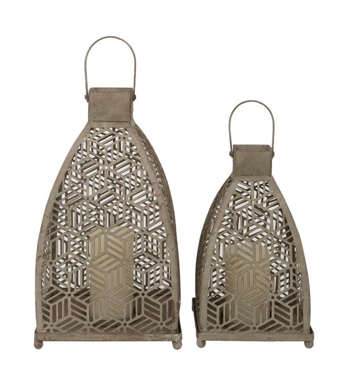 Metal Lanterns with lattice design