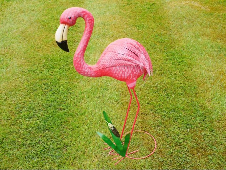 Metal pink Flamingo