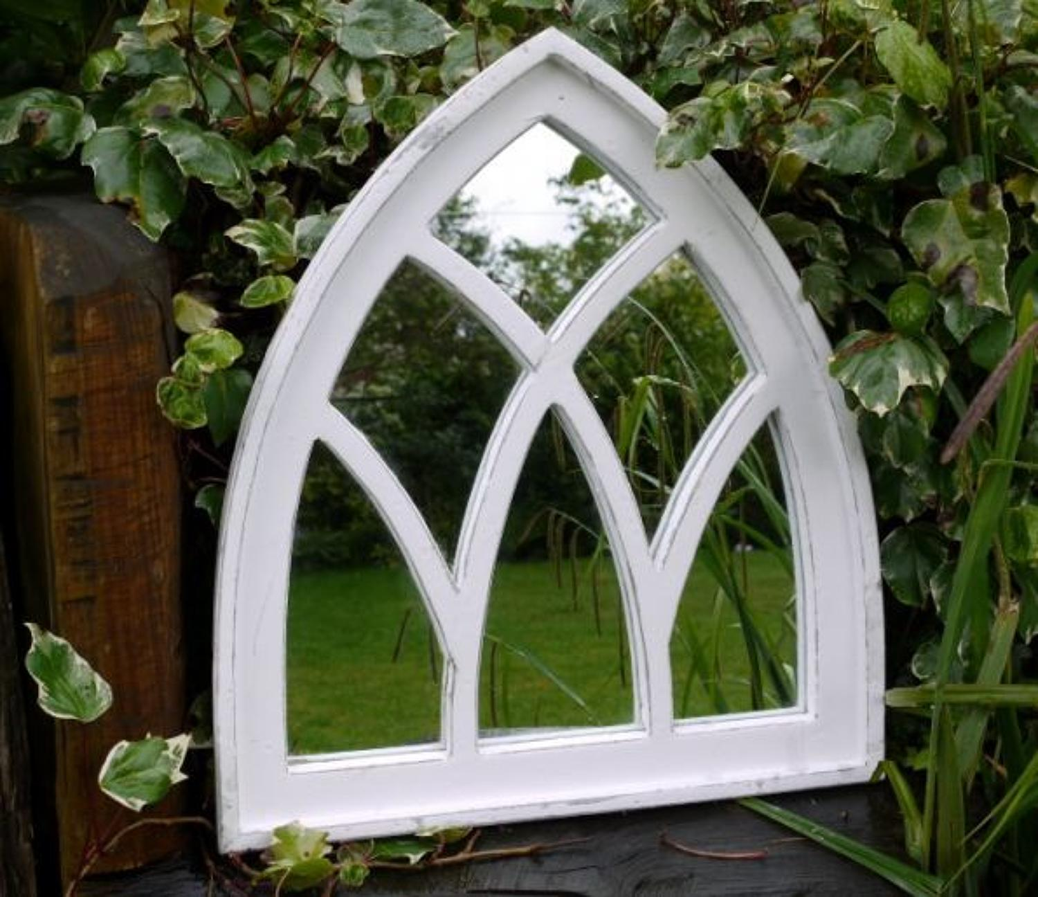 Garden arched window mirror