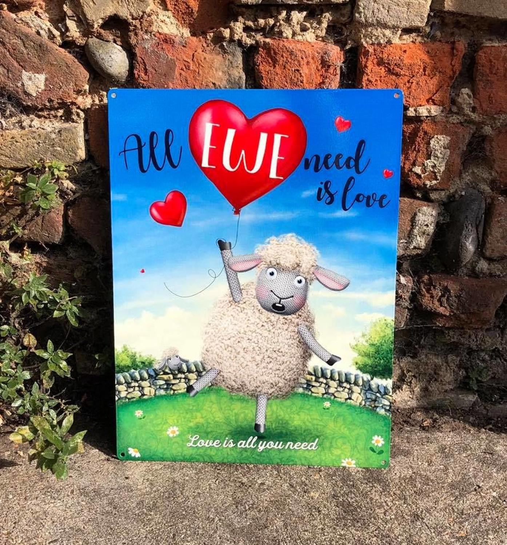 All Ewe You Need is Love, metal wall sign