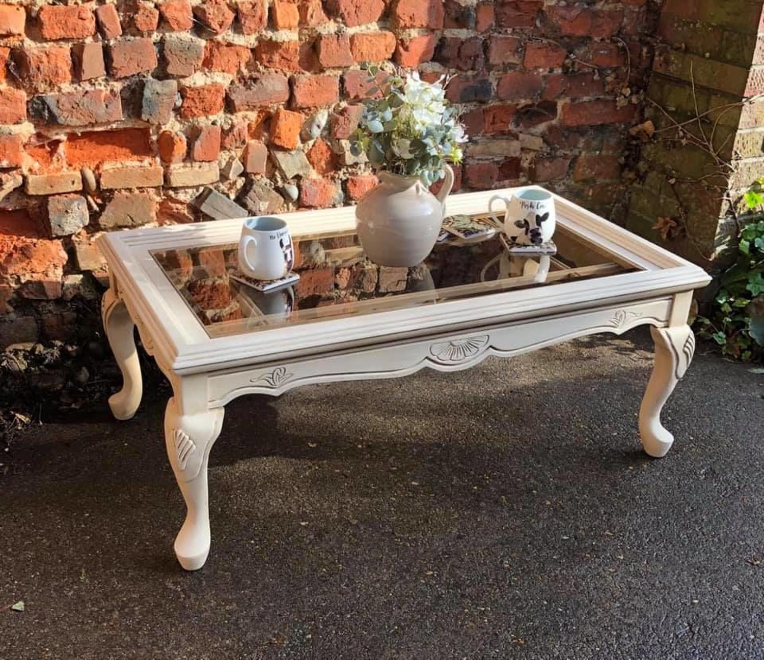 Fine painted coffee table