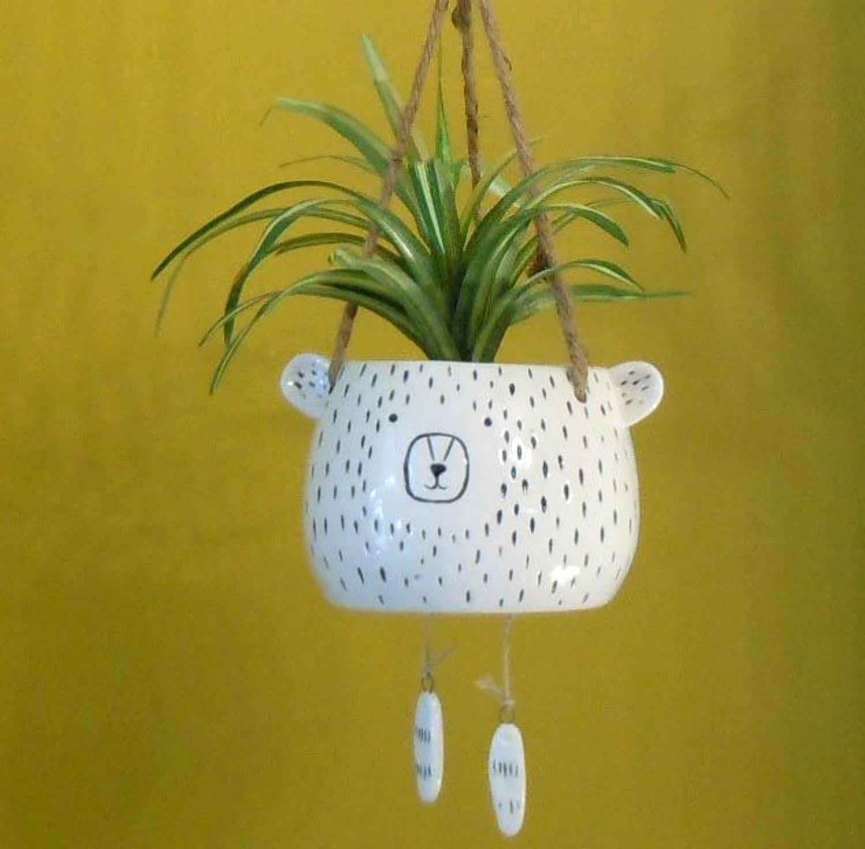 Hanging Bear flowerpot