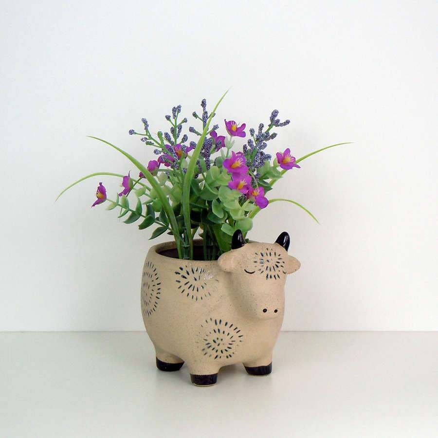 Cow Farm animal flower pot