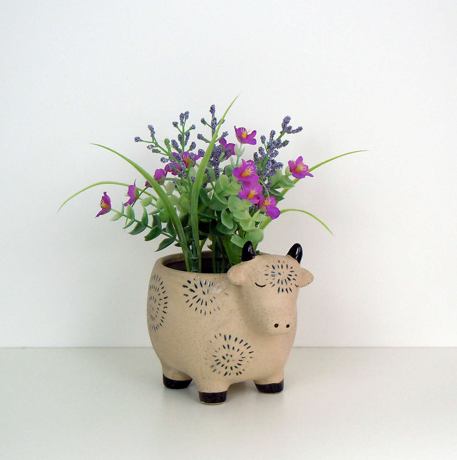 Cow Farm animal flower pot