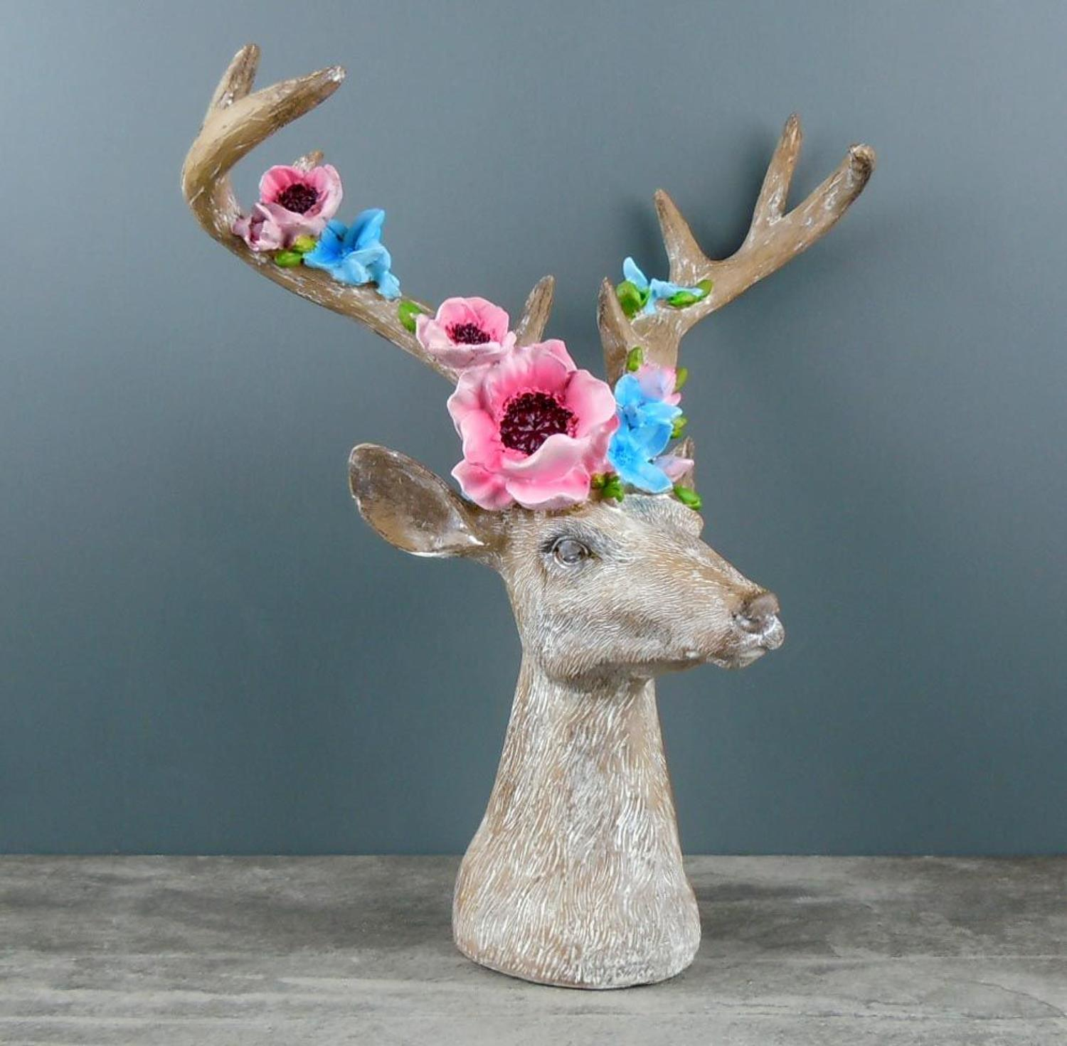 Floral Stag head