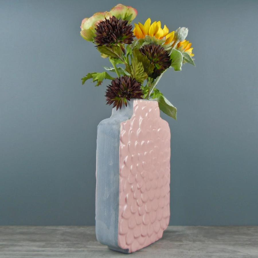 Pink and Grey petal vase