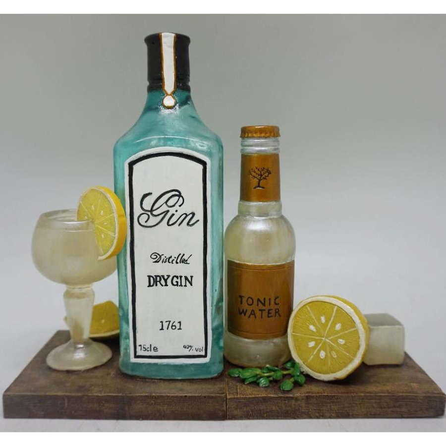 Gin & Tonic shelf tidy bookends