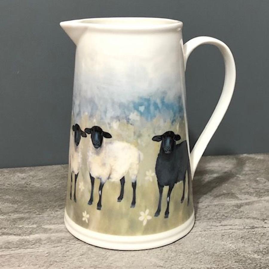 Country Sheep ceramic jug