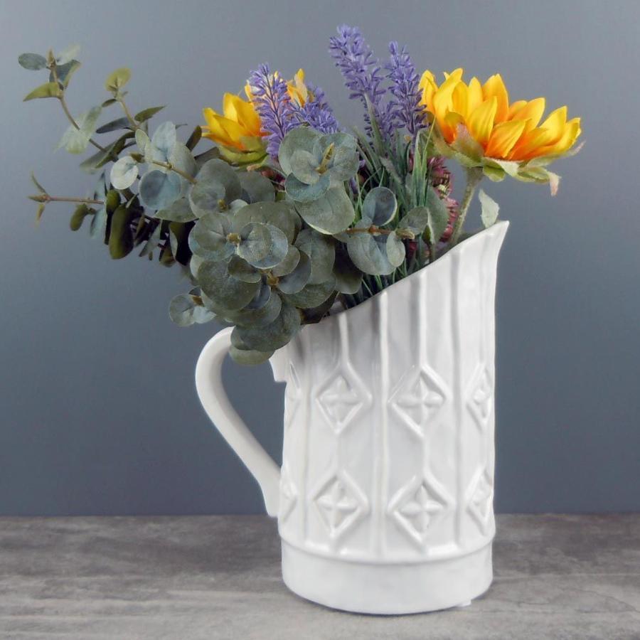 White Diamond Vase jug