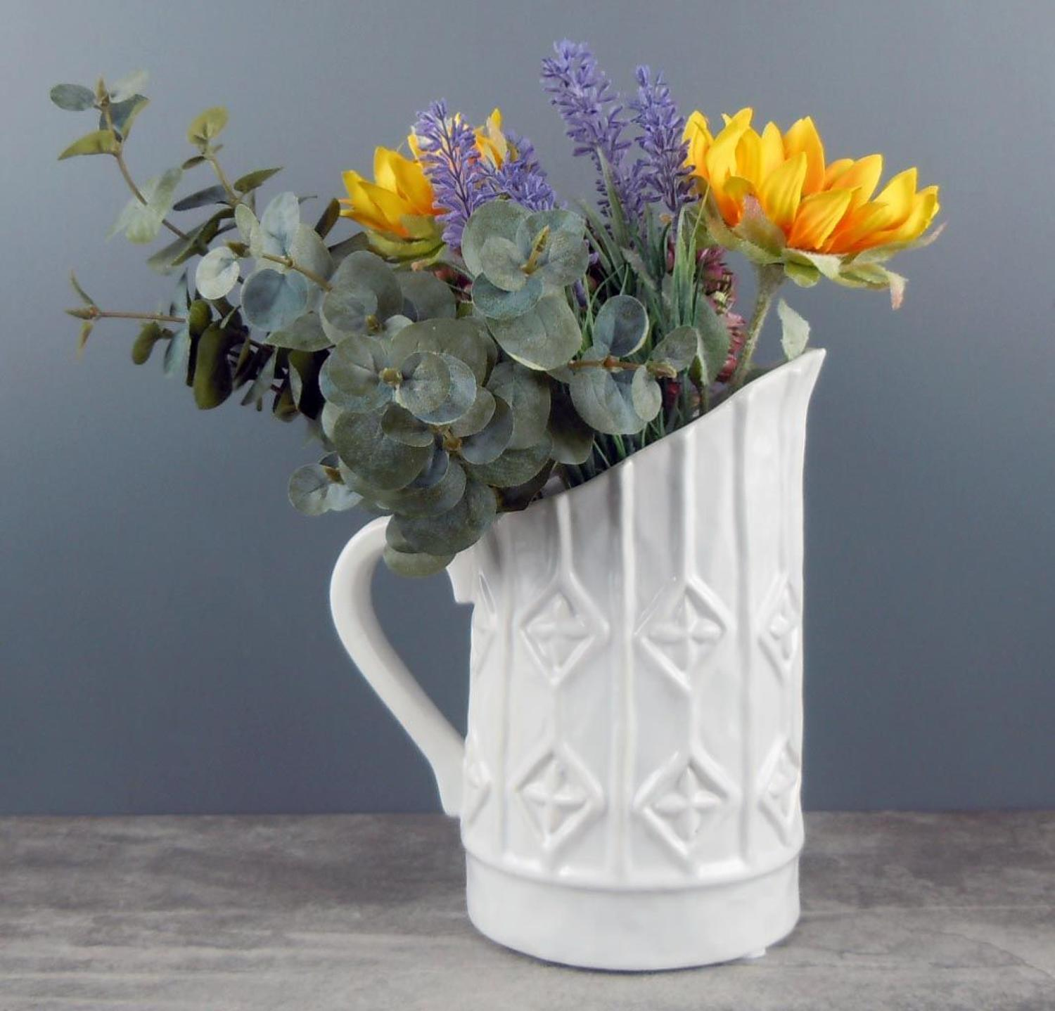 White Diamond Vase jug