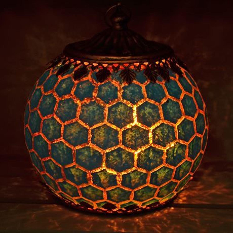 Blue LED Geometric pattern lantern