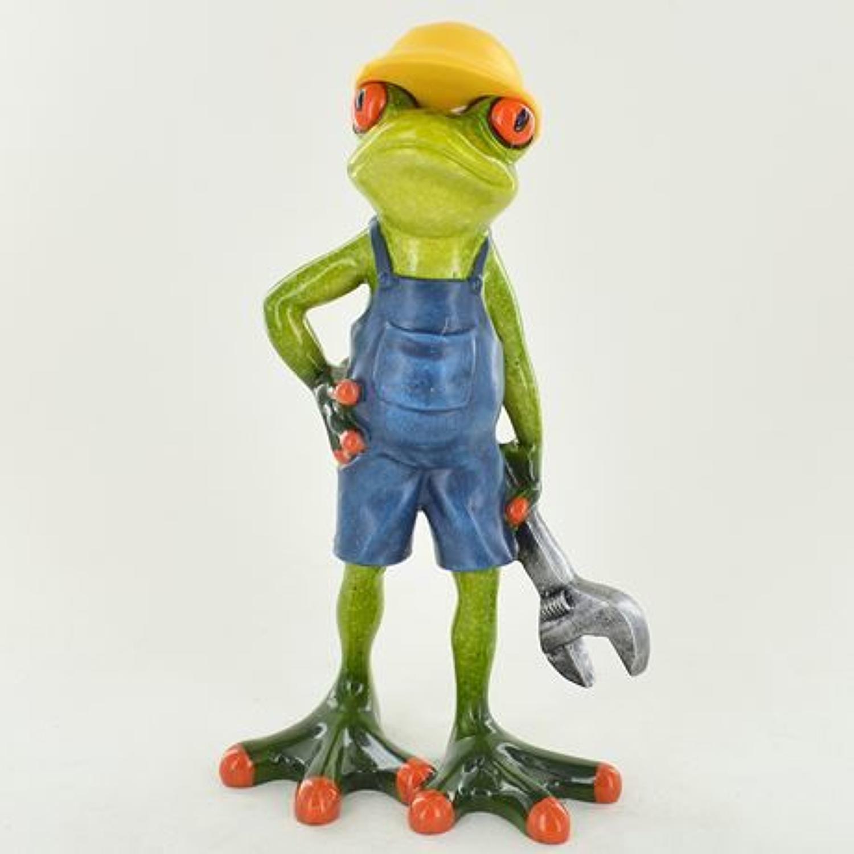 Comical Mechanic Frog figurine