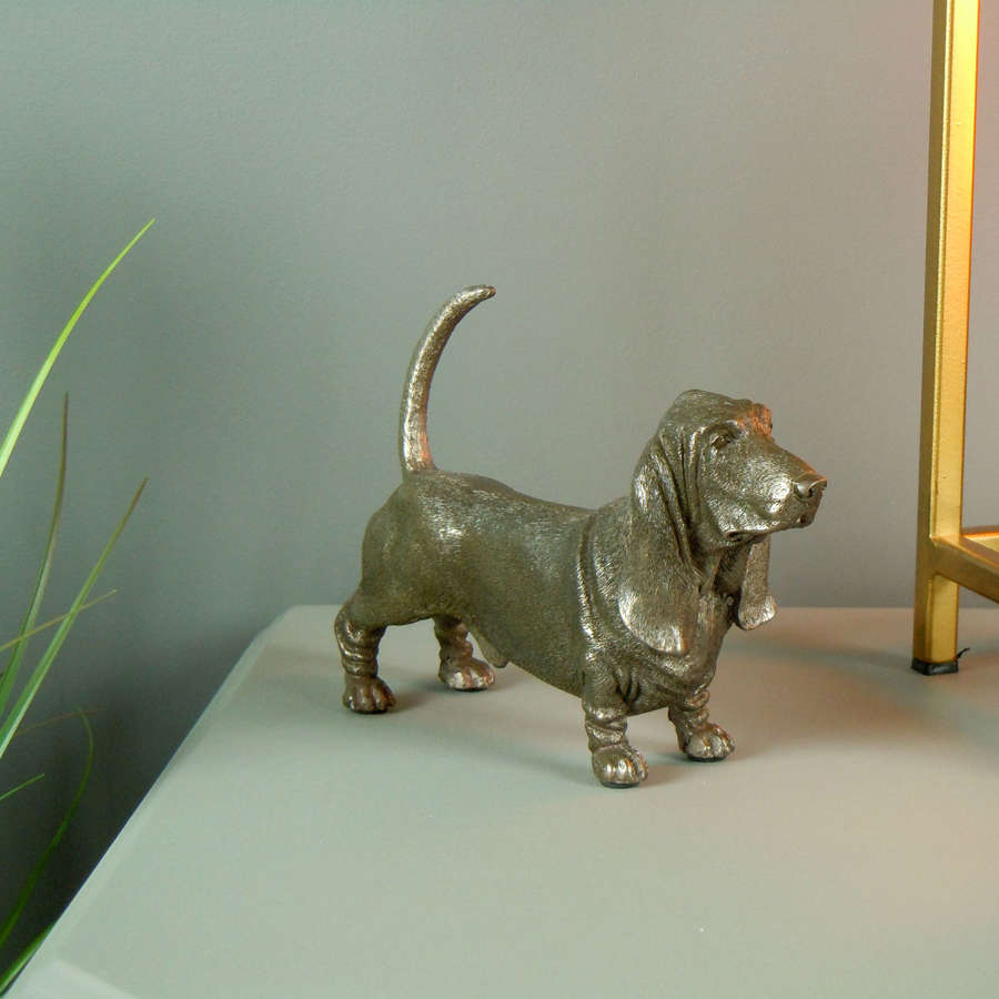 Basset Hound Dog Cold Cast Bronze sculpture