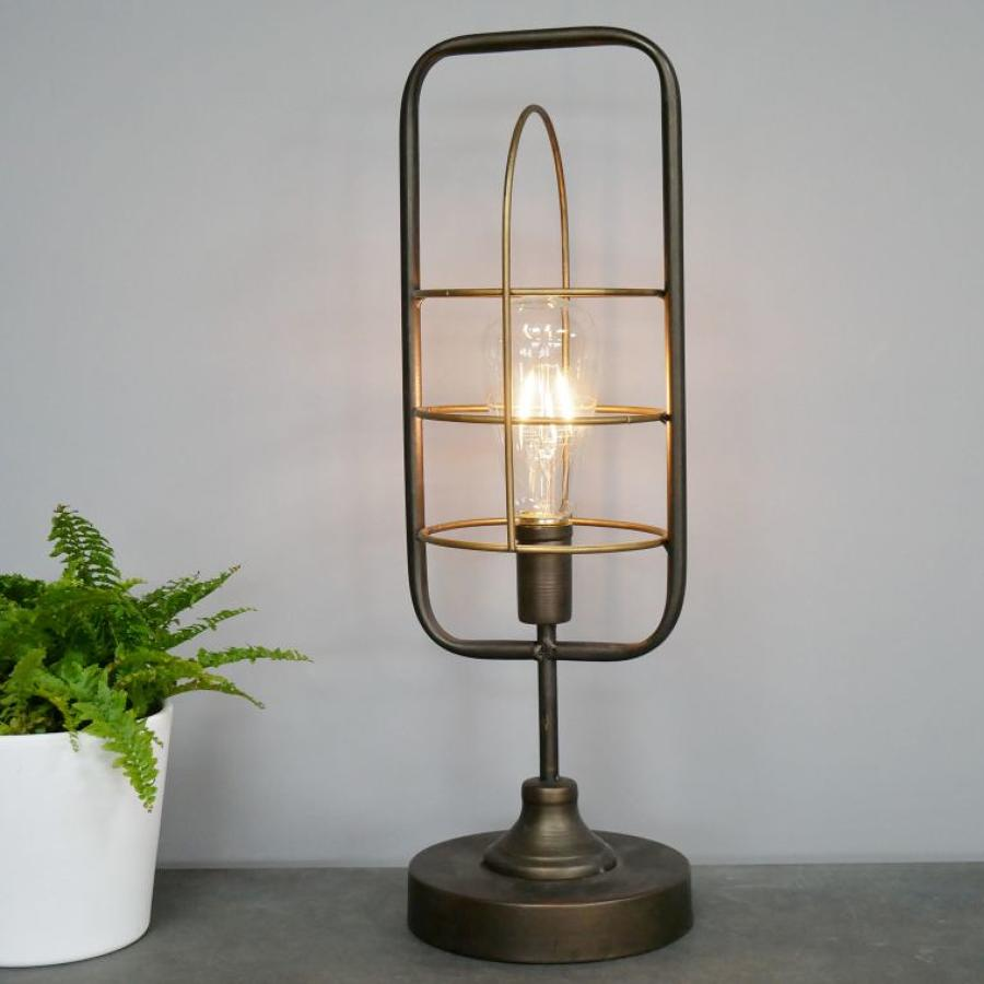 Industrial metal battery operated lamp