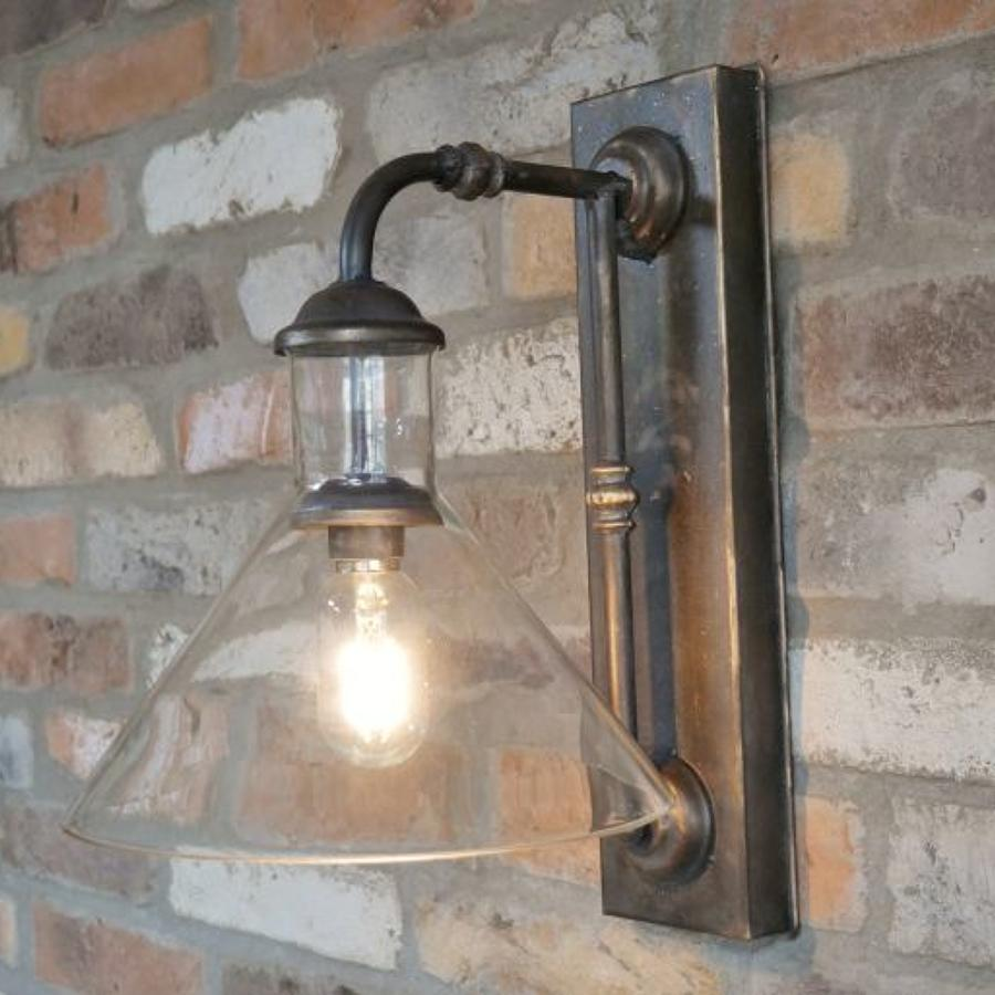 Industrial metal battery operated wall light