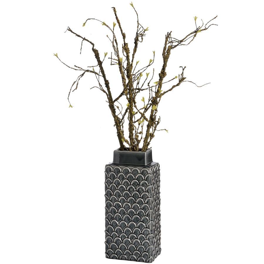 Rectangular Grey Perugia vase