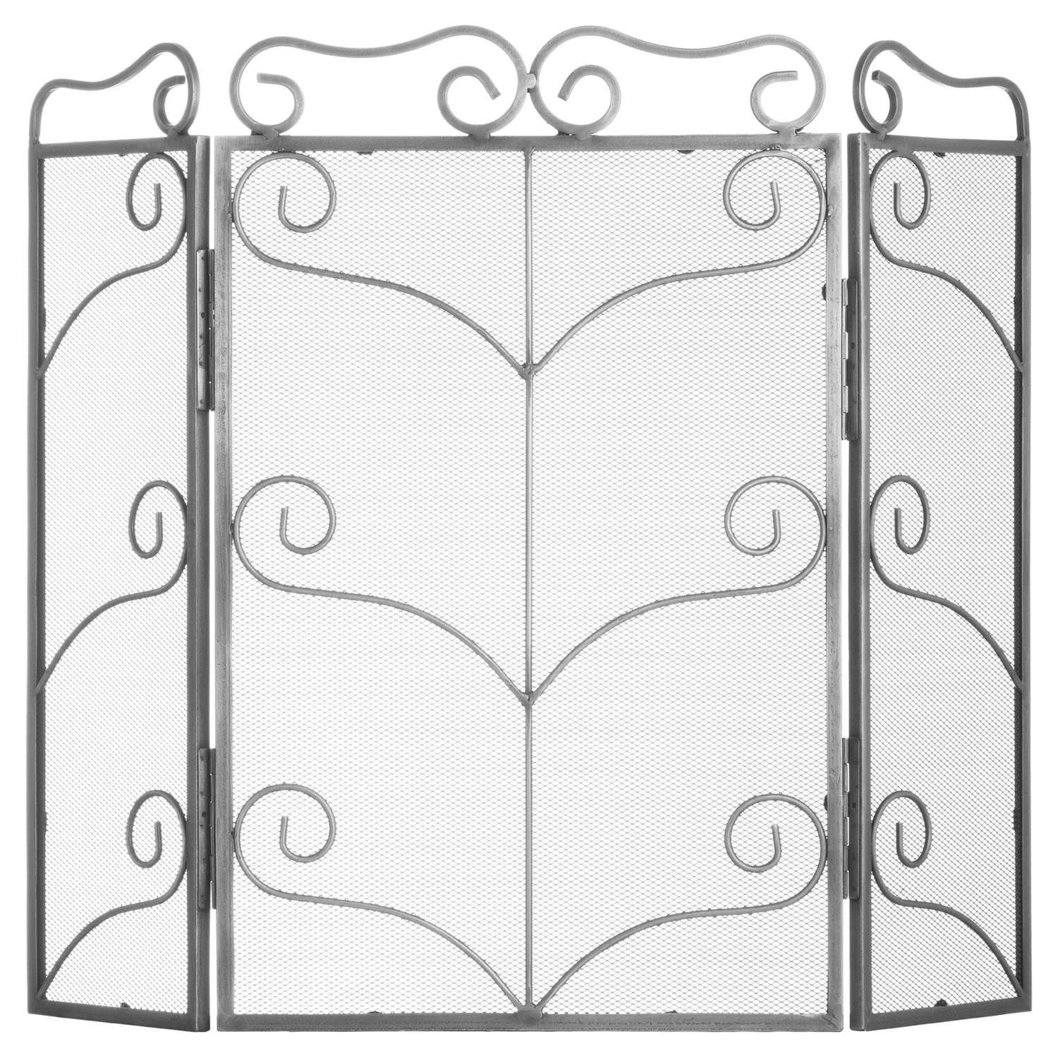 Antique Silver fire screen