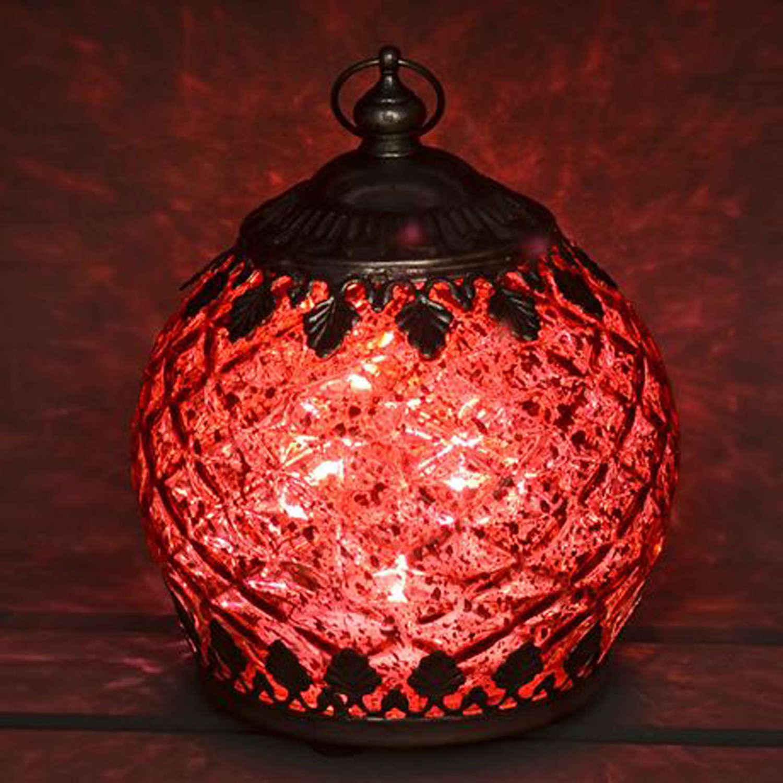 Red LED pattern lantern