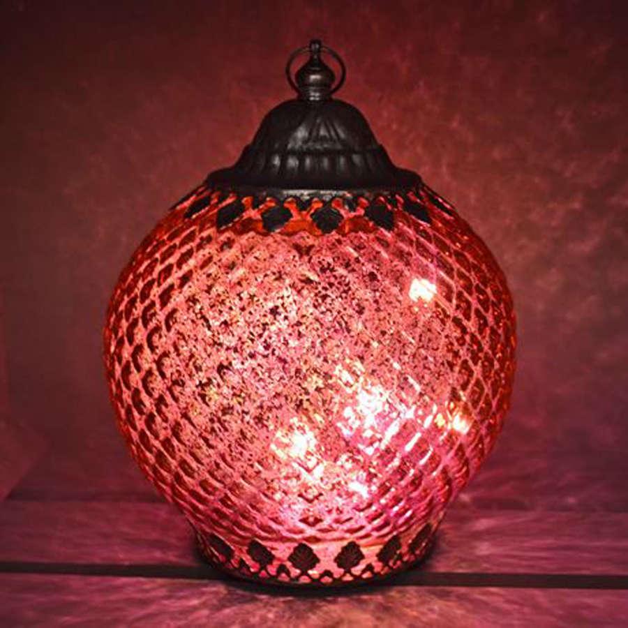 Pink LED pattern lantern
