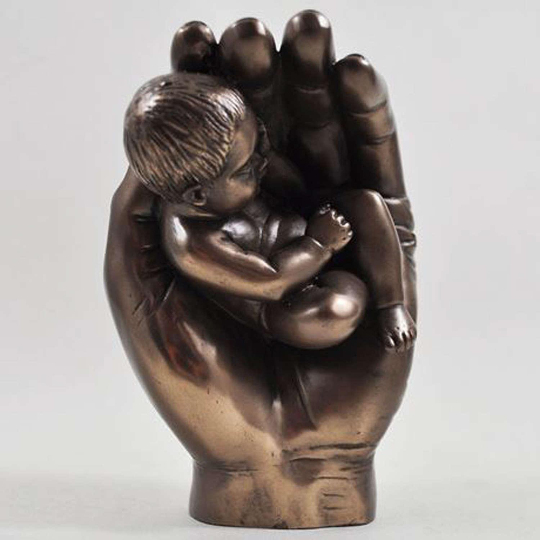 A little handful, Cold cast Bronze Baby sculpture