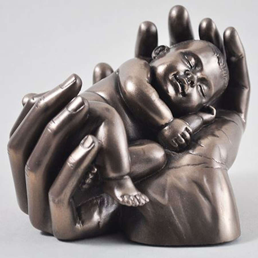 Sweet Dreams, Cold cast Bronze Baby sculpture