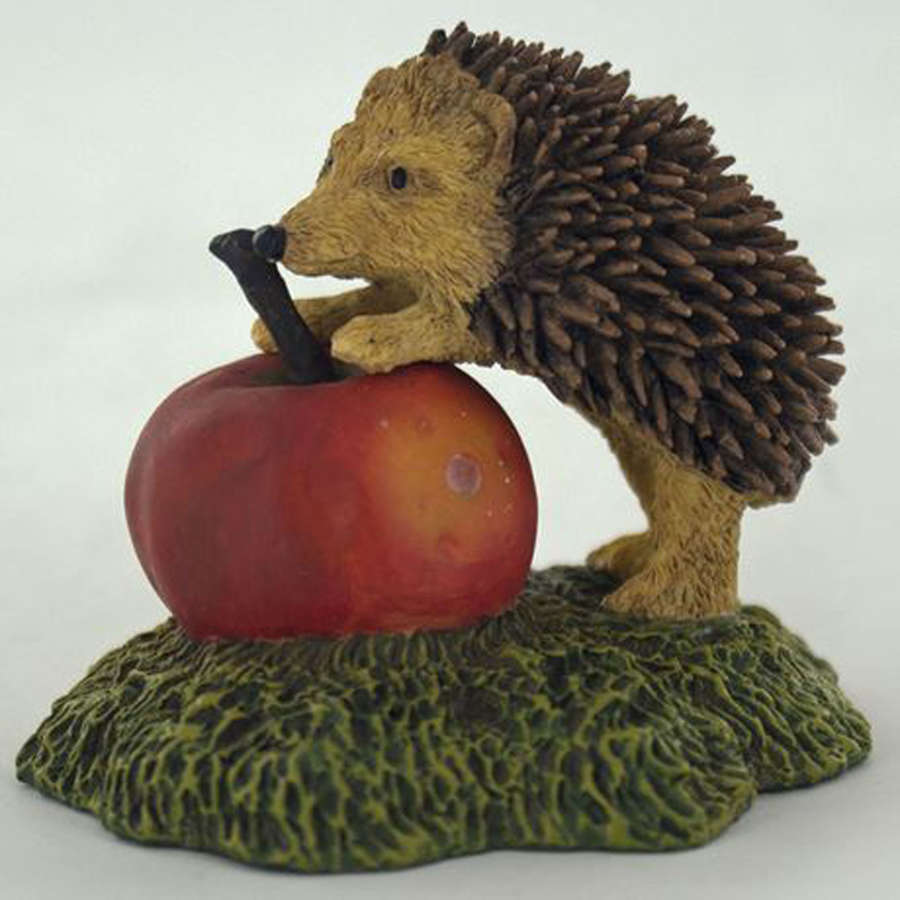 Baby Hedgehog and Apple