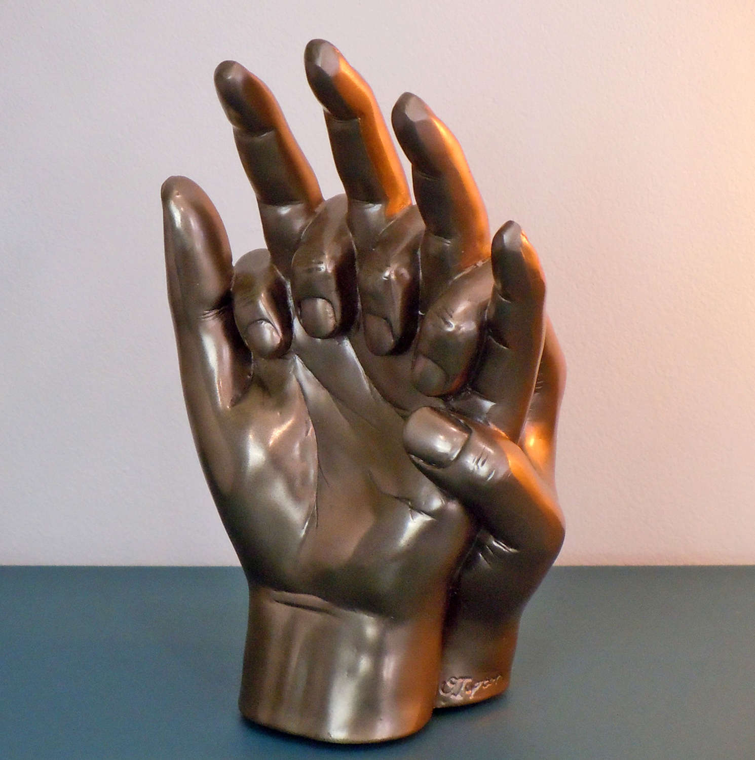 Entwined Hands, Cold cast Bronze sculpture