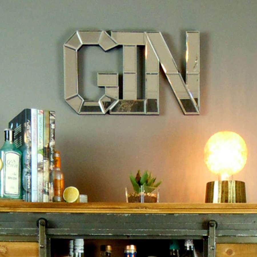 Gin wall art mirror