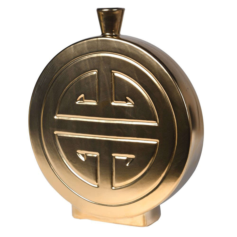 Gold Ming ceramic vase