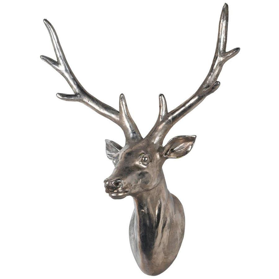 Silver wall hanging Deer head