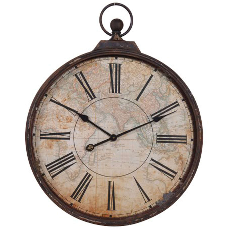Map effect wall clock