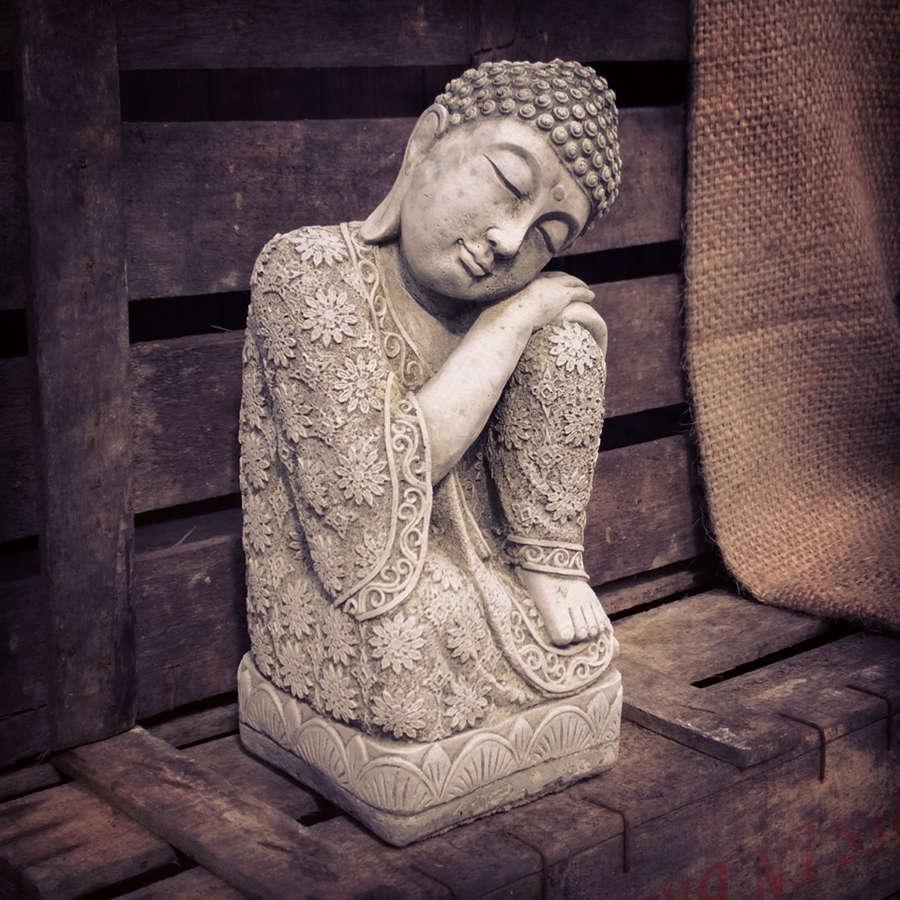 Stoneware Sleeping Buddha