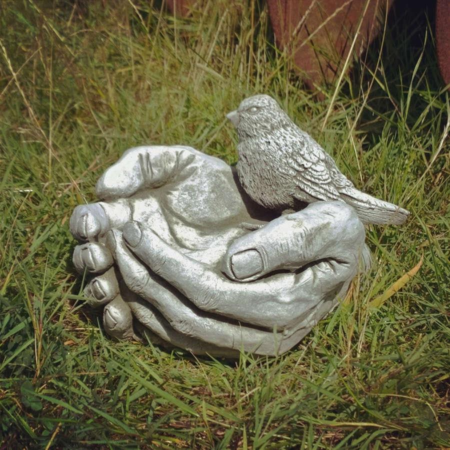 Stoneware Bird Hand Feeder