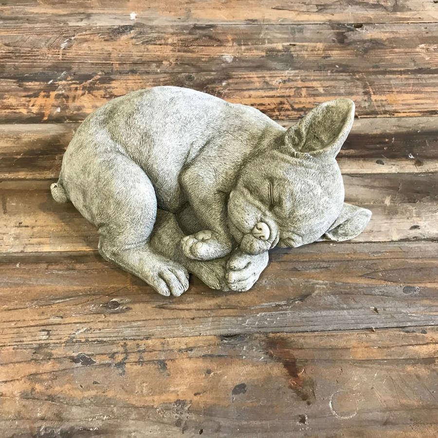 Stoneware French Bulldog Puppy