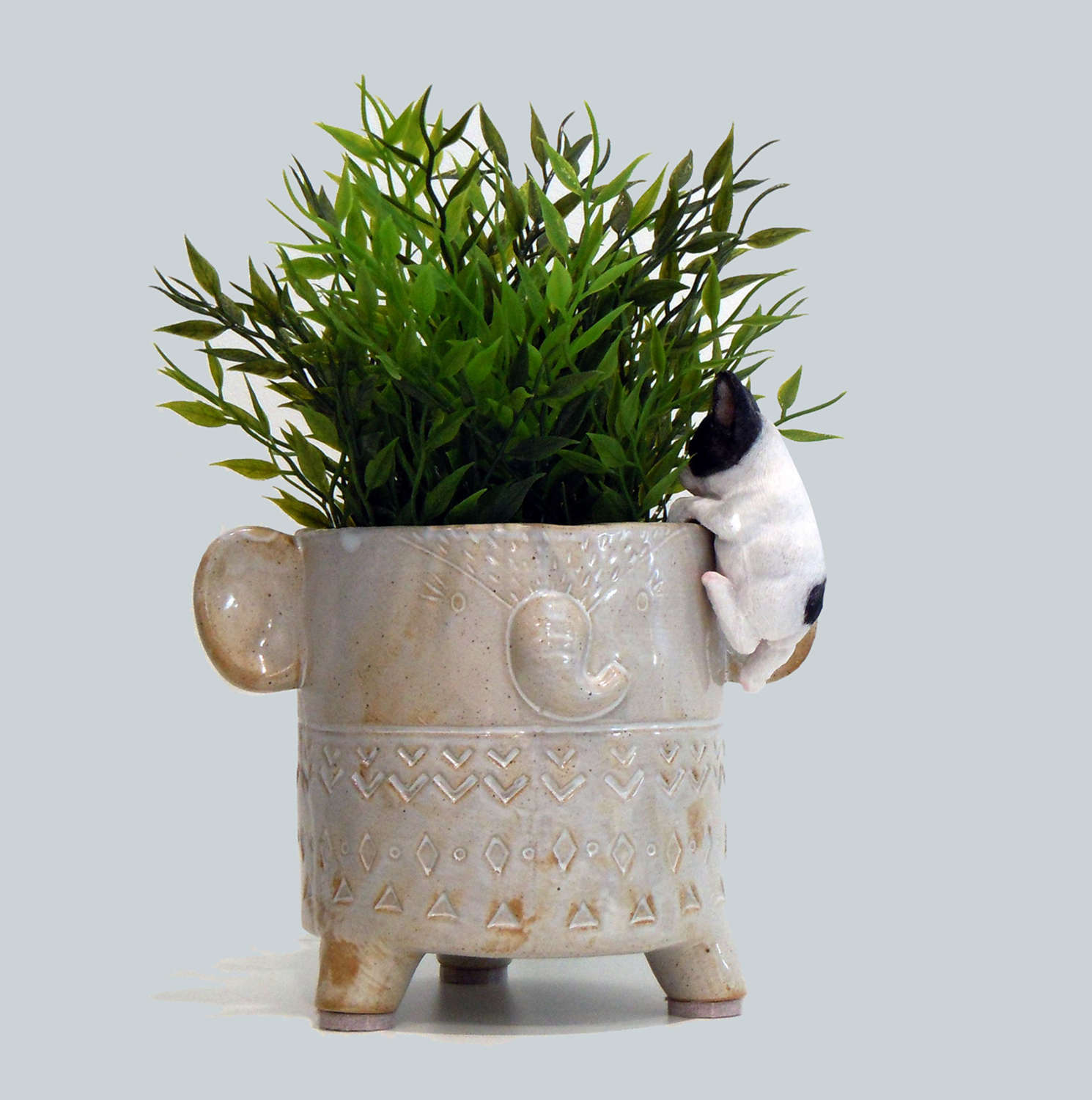 French Bulldog pot hanger