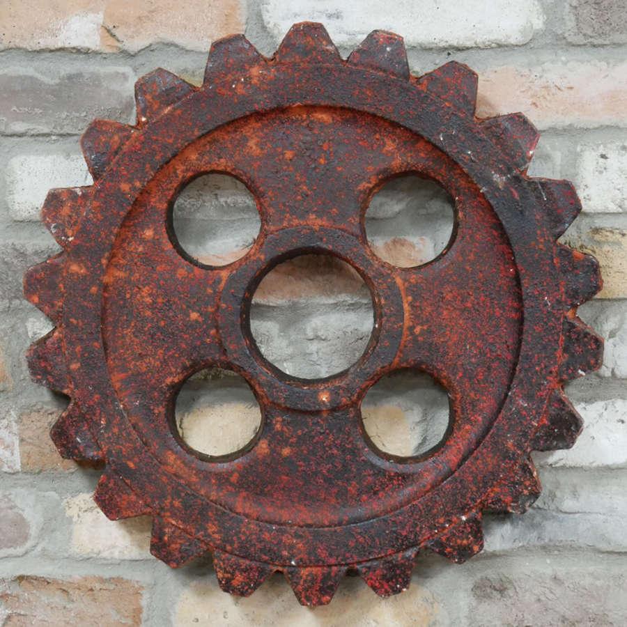 Industrial cog wall art