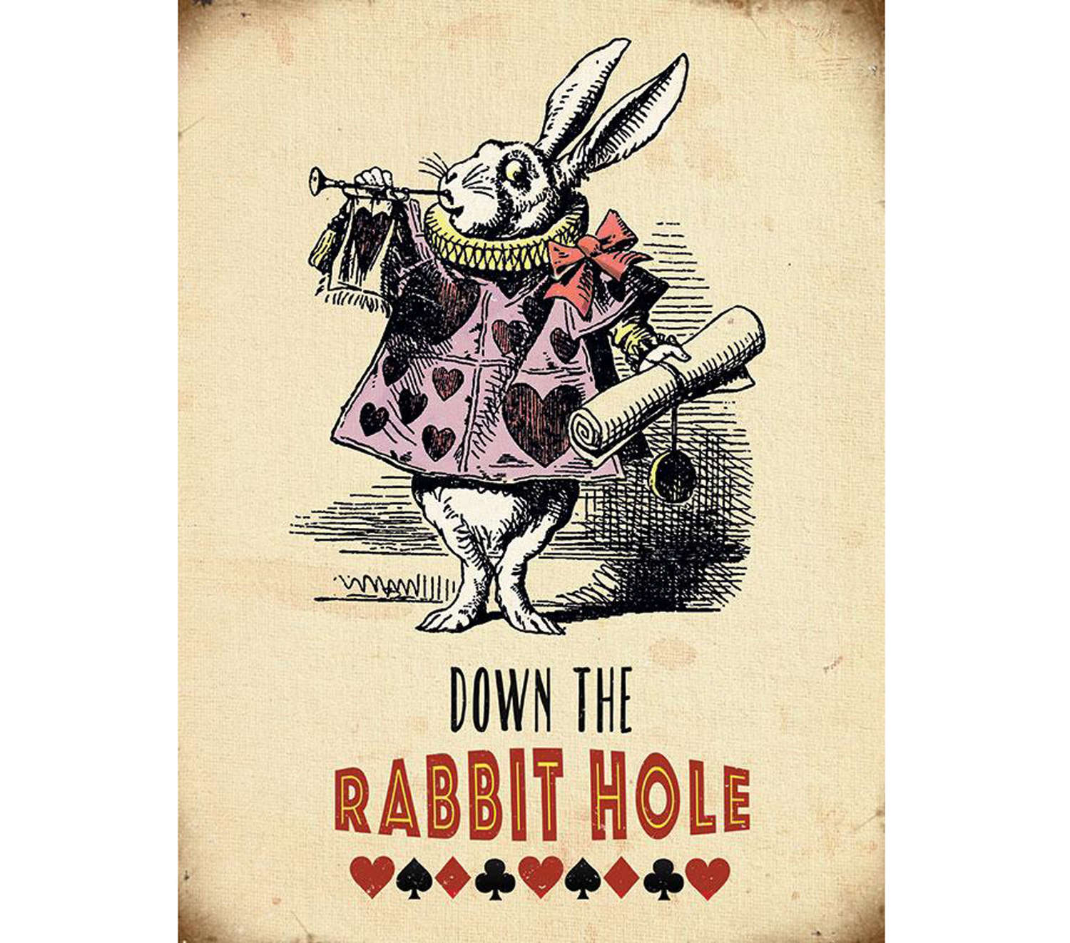 Alice in Wonderland, Down The Rabbit Hole sign