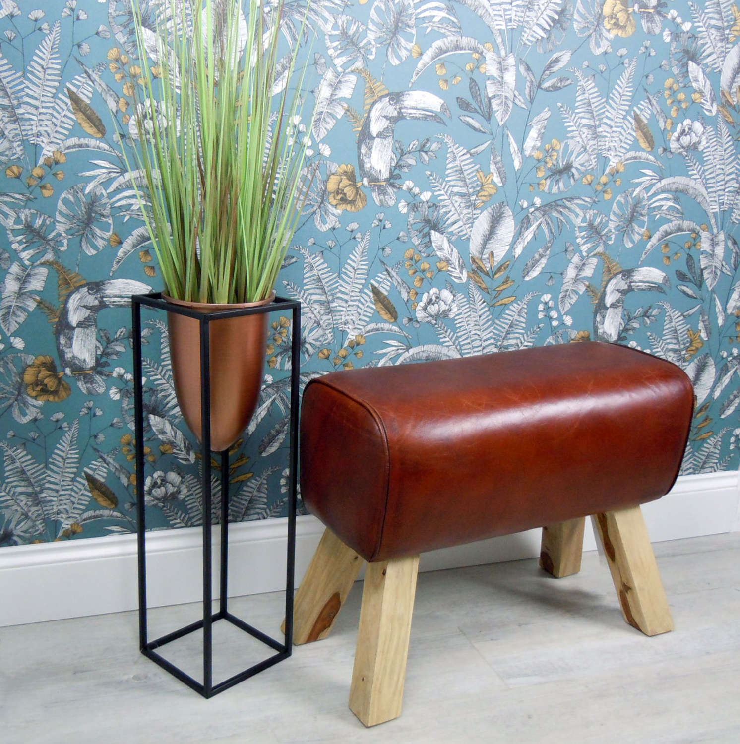 Vintage Leather Pommel Horse Stool