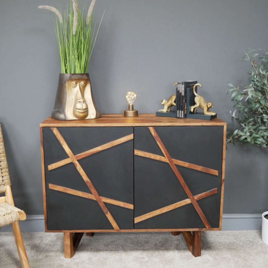Oslo Sheesham wood modern sideboard cabinet