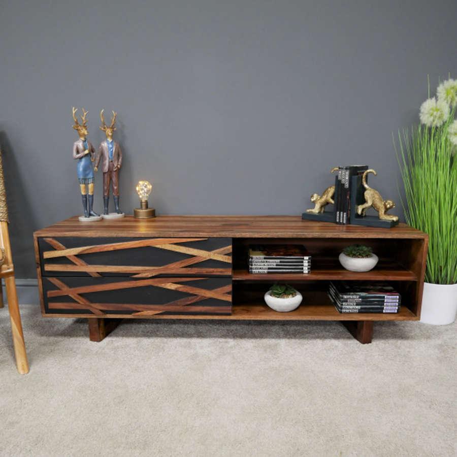 Oslo Sheesham wood modern side table