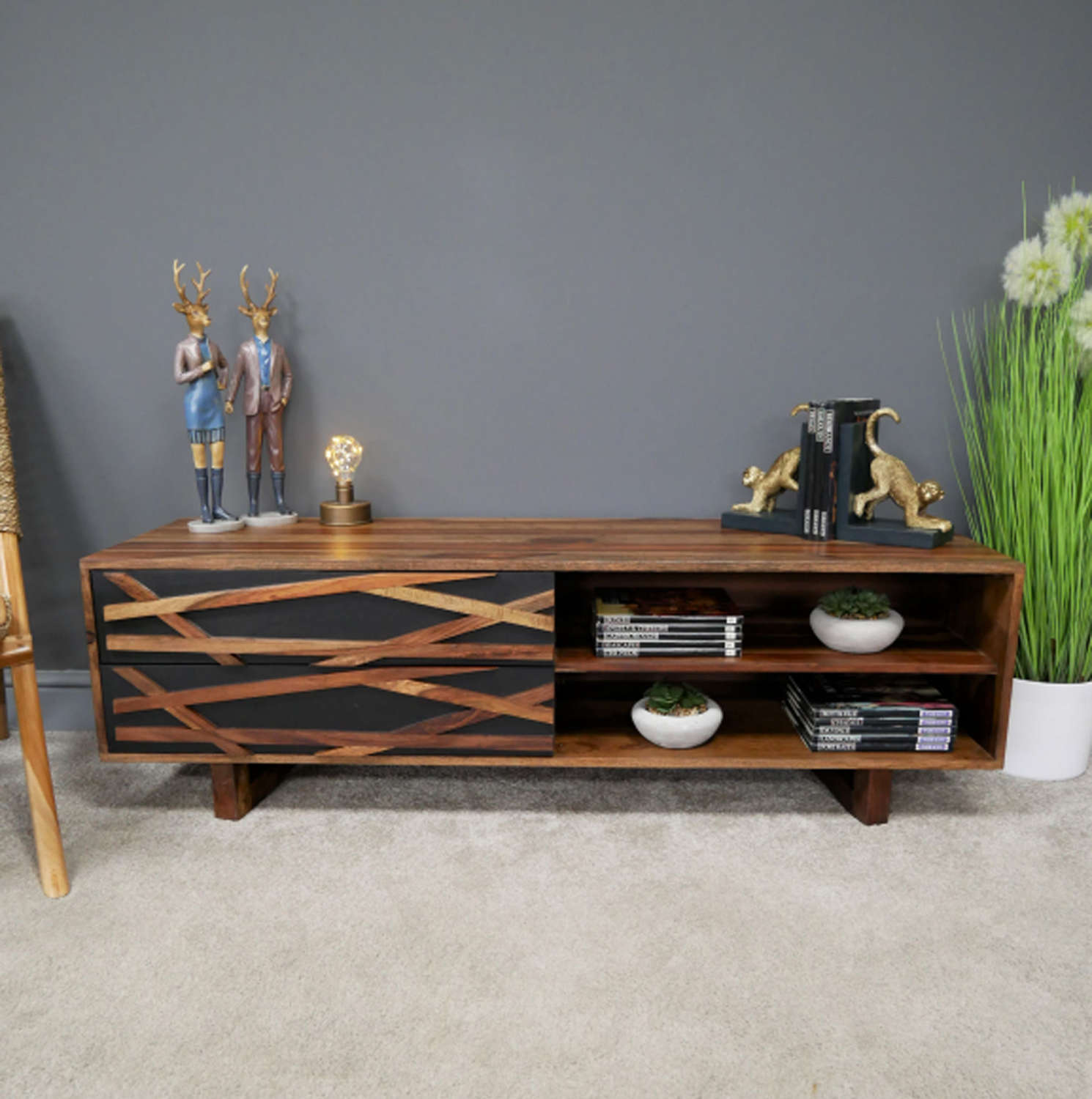 Oslo Sheesham wood modern side table