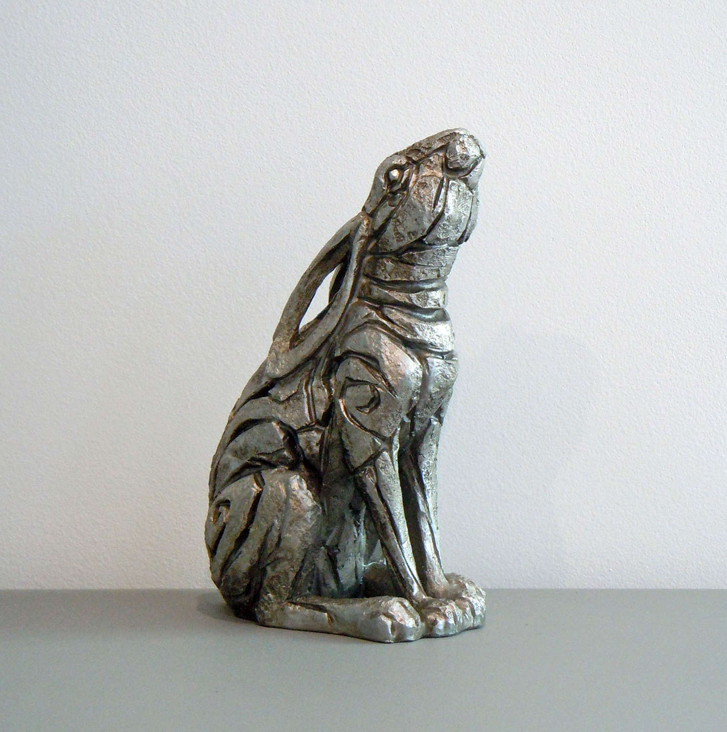 Antique silver star gazing Hare