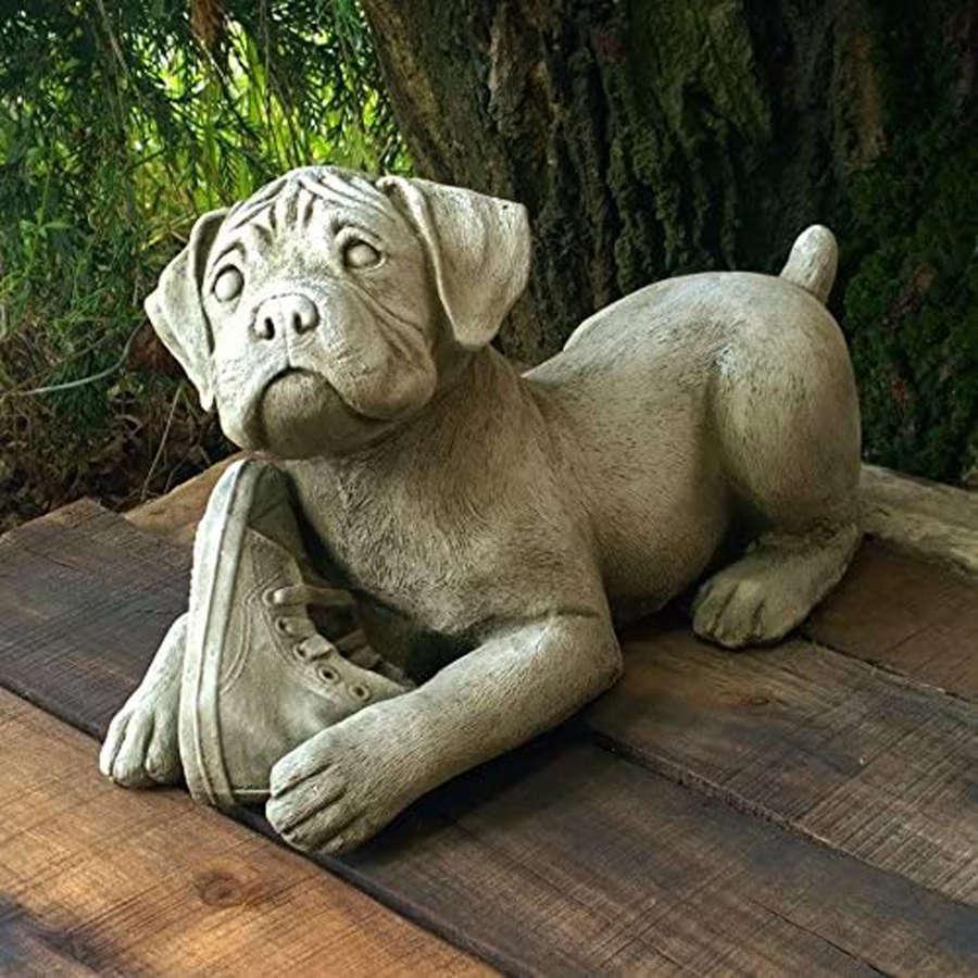 Stoneware Boxer Dog