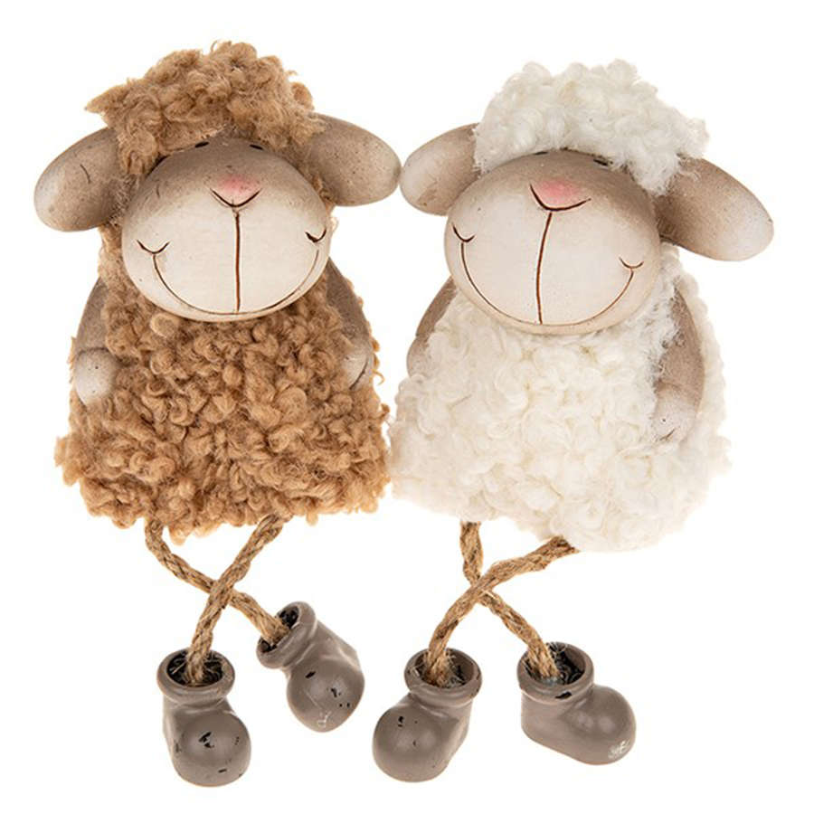 Fluffy Sheep shelf hangers with dangly legs