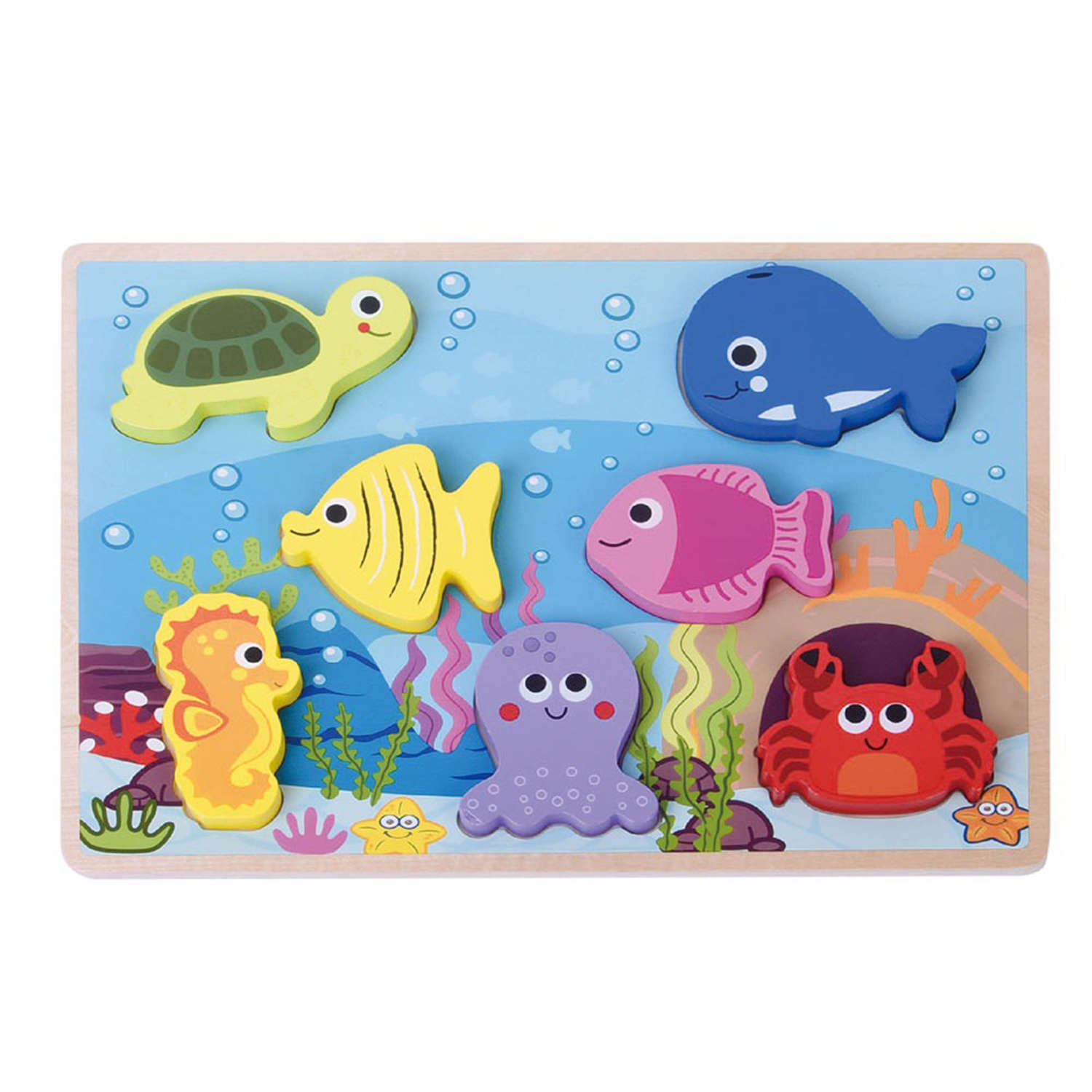 Chunky Sea Life wooden Puzzle