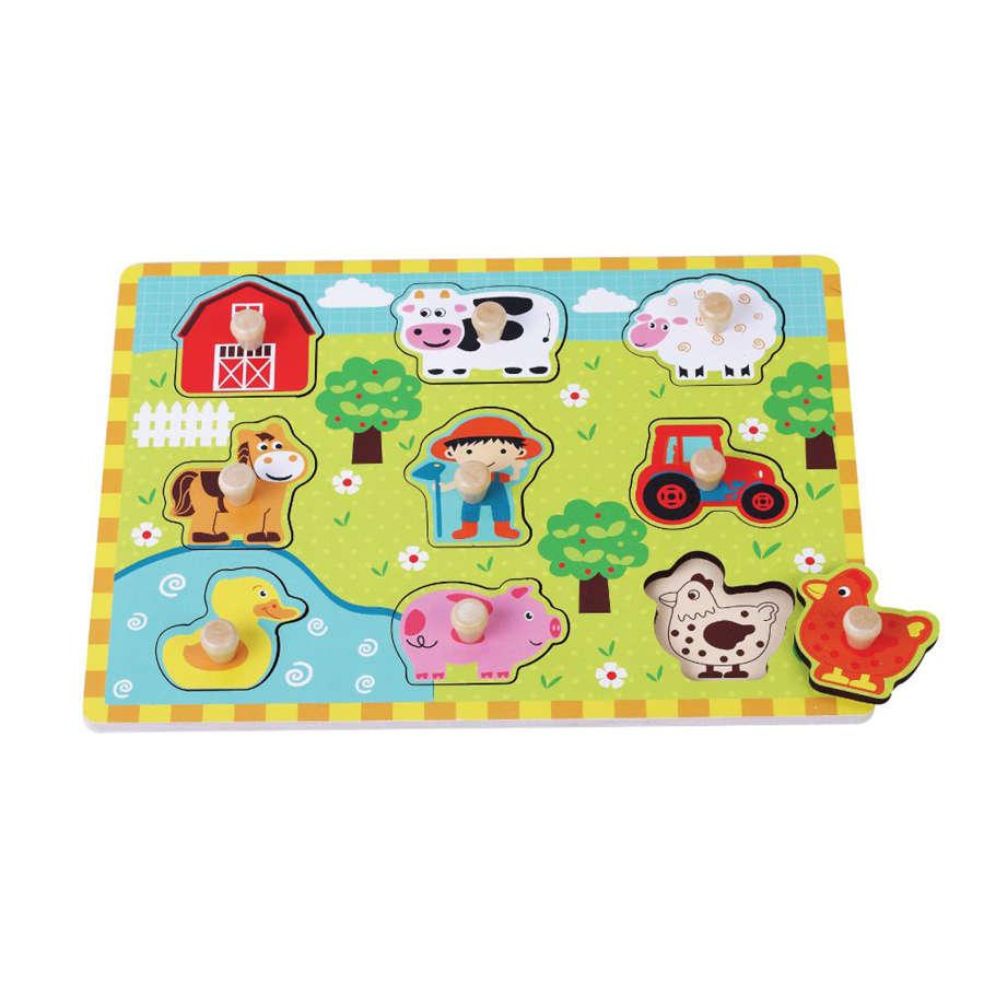 Farm peg wooden puzzle